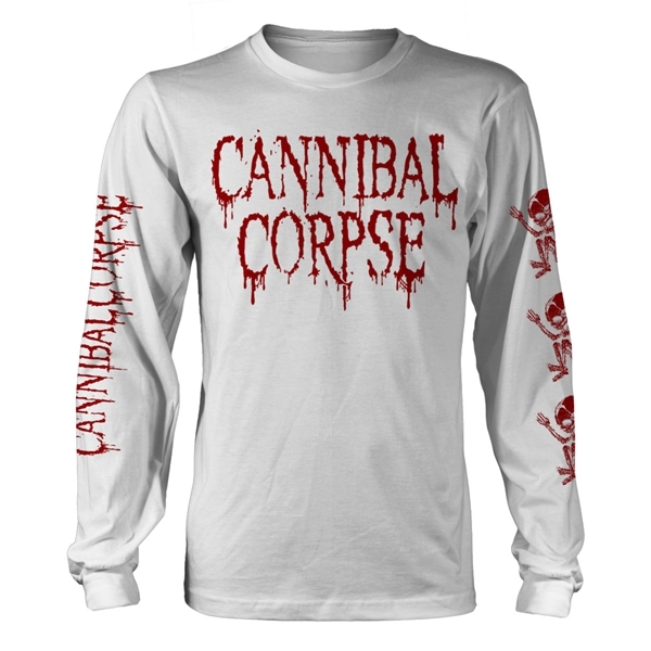 Cannibal Corpse Pile of Skulls 2018 Red Long Sleeve Shirt